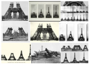 images for the Eiffel tower construction